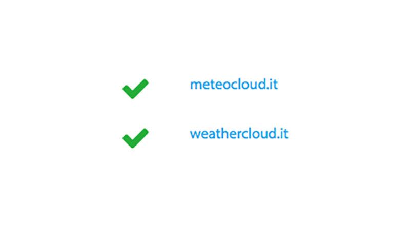Acquisizione nuovo dominio weathercloud.it