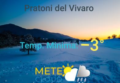 Pratoni del Vivaro – Registrati i primi -3 °C della stagione!