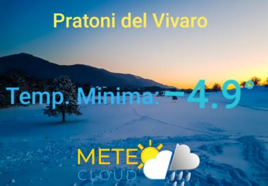 Pratoni del Vivaro – Sfiorati i -5° all'alba!