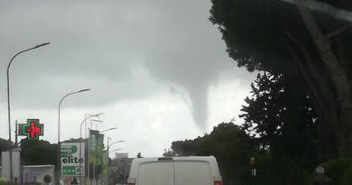 Tromba d'aria e temporali tra le province di Roma e Latina – FOTO