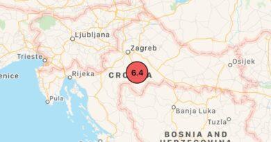 Terremoto: fortissima scossa in Croazia, avvertita anche in Italia